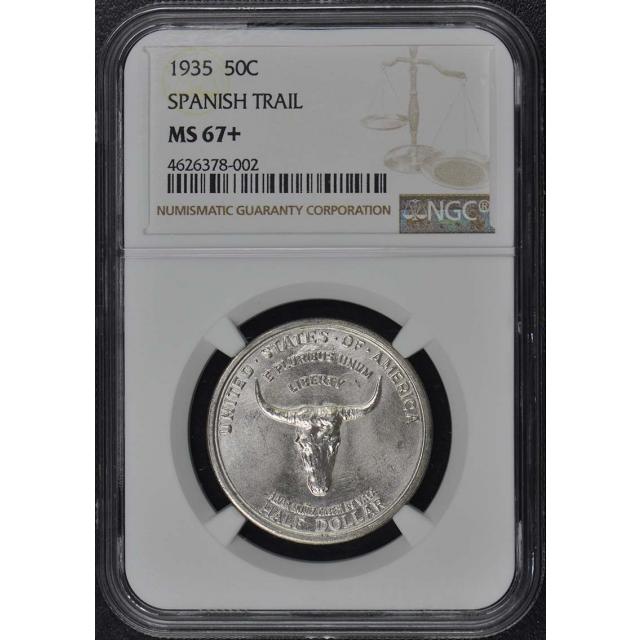 SPANISH TRAIL 1935 Silver Commemorative 50C NGC MS67+