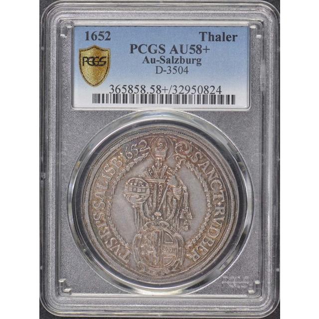 1652 Thaler Salzburg Austria PCGS AU58+ D-3504