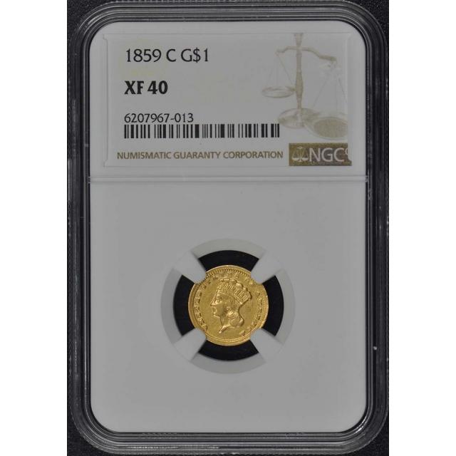 1859-C Gold Dollar - Type 3 G$1 NGC XF40