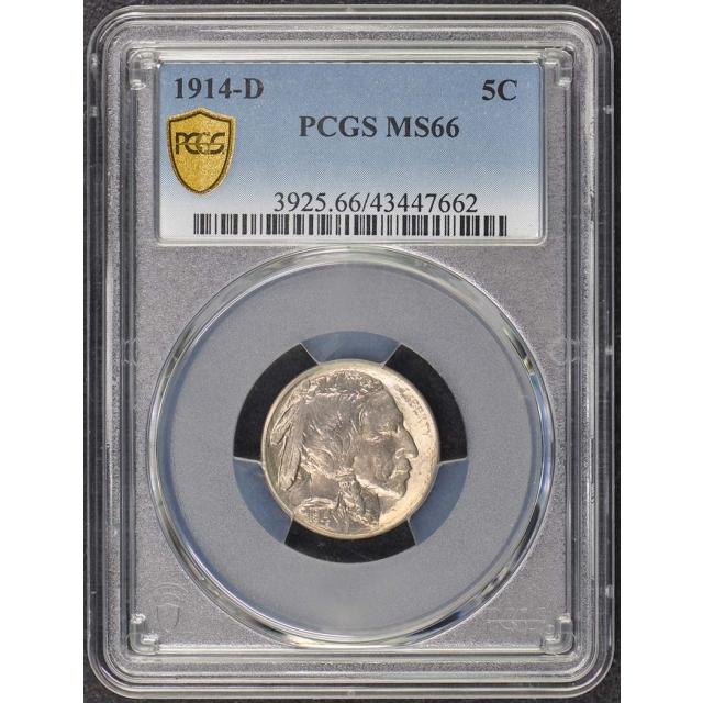 1914-D 5C Buffalo Nickel PCGS MS66