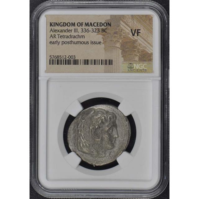 Alexander III 336-323 BC KINGDOM MACEDON Tetradrachm NGC VF20