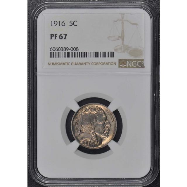 1916 Buffalo Nickel Type 2 5C NGC PR67
