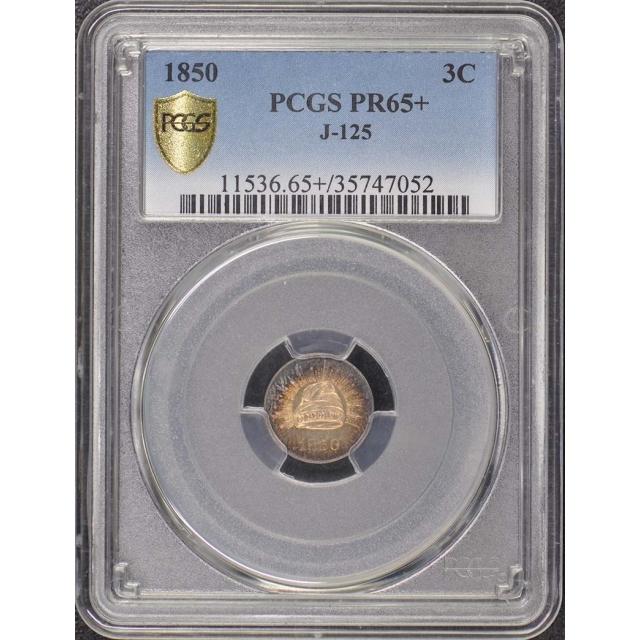 1850 3C J-125 Pattern PCGS PR65+