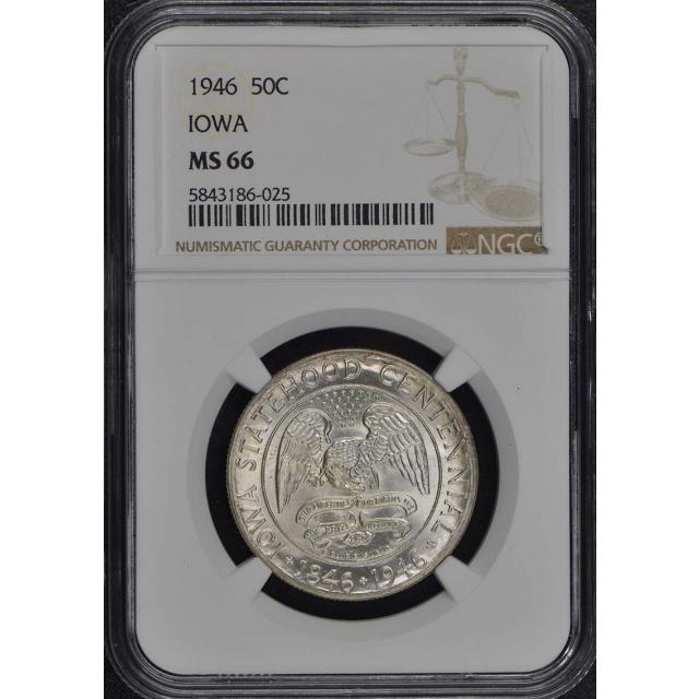 IOWA 1946 Silver Commemorative 50C NGC MS66