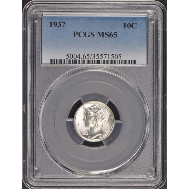 1937 10C Mercury Dime PCGS MS65