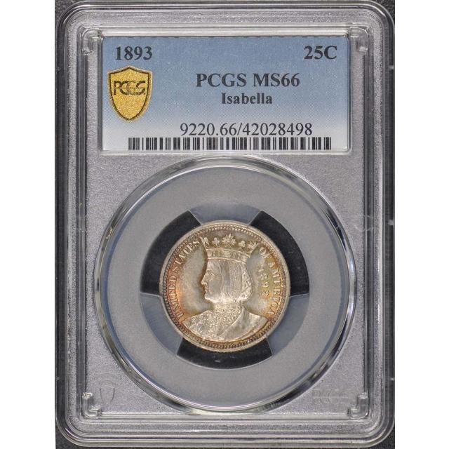 ISABELLA 1893 25C Silver Commemorative PCGS MS66