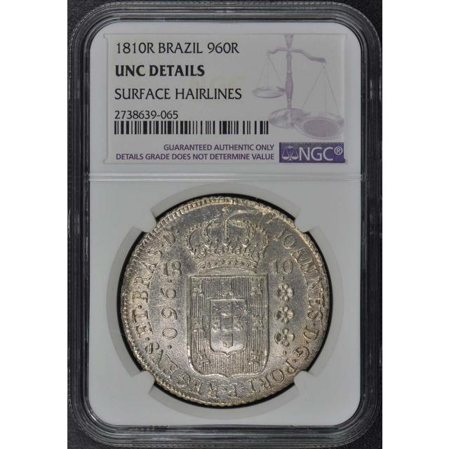 1810R BRAZIL 960R NGC UNC Details