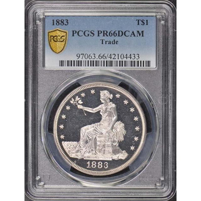 1883 T$1 Trade Dollar PCGS PR66DCAM Pop 1/0