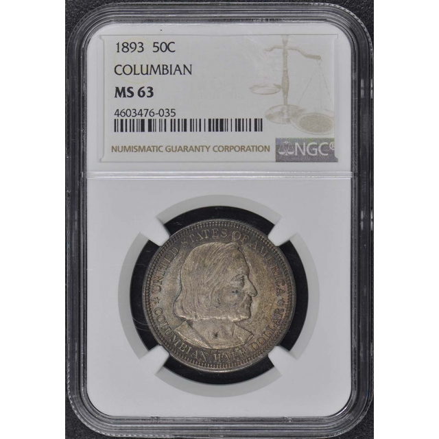 COLUBMIAN 1893 Silver Commemorative 50C NGC MS63