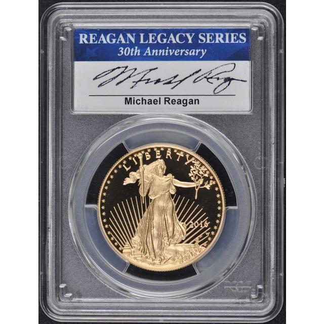 2016-W Gold Eagle 30th Anniv. 4PC Set PCGS PR70DCAM Reagan Legacy Series