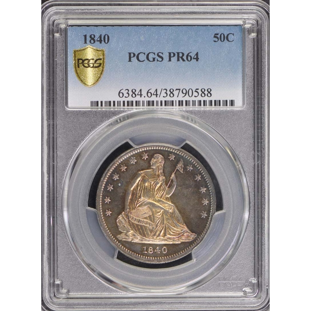 1840 50C Liberty Seated Half Dollar PCGS PR64 Mintage 6