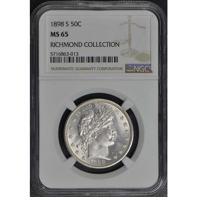 1898-S Barber Half Dollar 50C NGC MS65