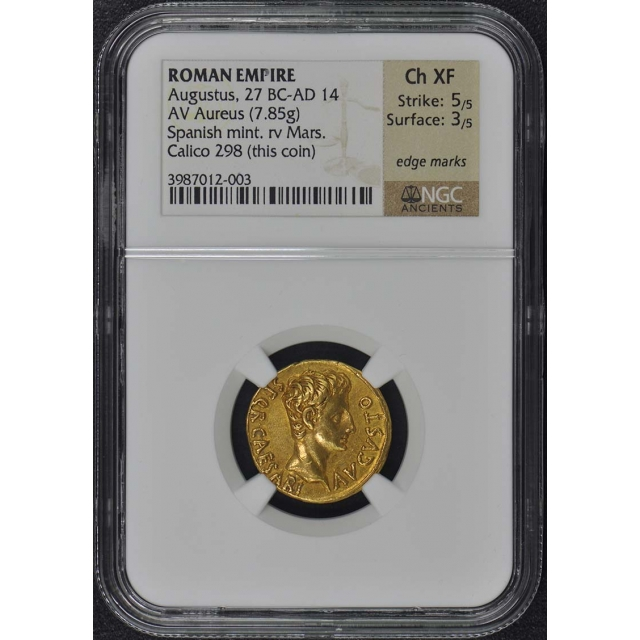 Augustus, 27 BC-AD 14 ROMAN EMPIRE AV Aureus NGC XF45
