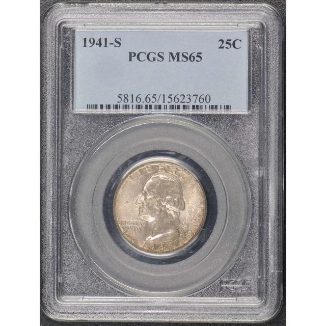 1941-S 25C Washington Quarter PCGS MS65