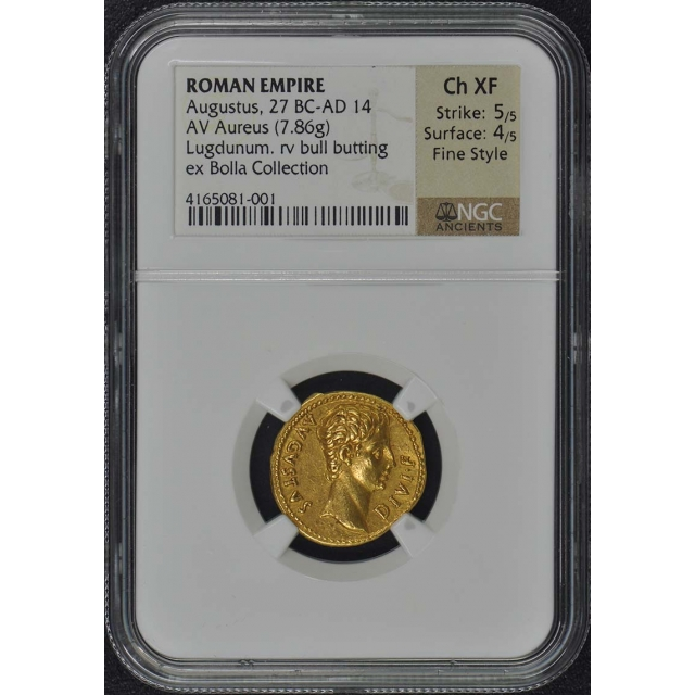 Augustus 27 BC-AD 14 ROMAN Aureus NGC XF45 Finestyle