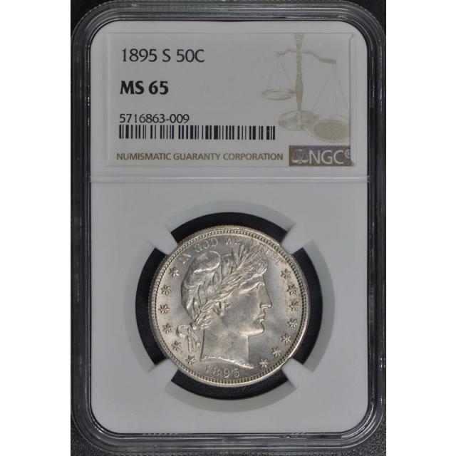 1895-S Barber Half Dollar 50C NGC MS65