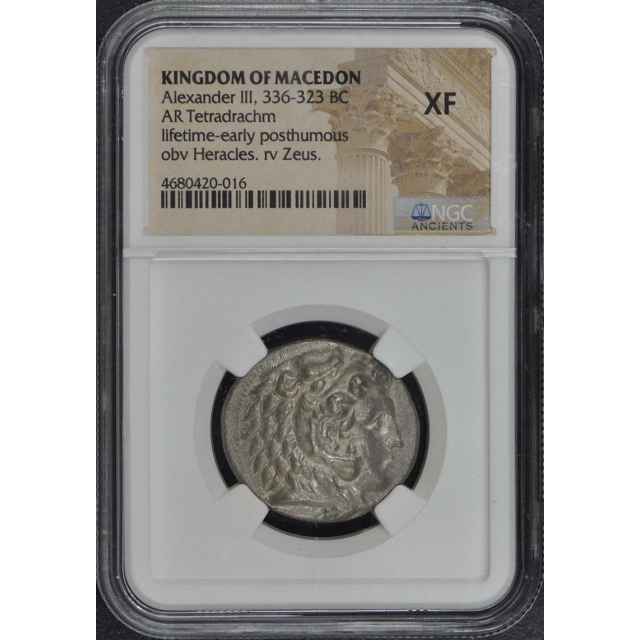 Alexander III, 336-323 BC KINGDOM OF MACEDON AR Tetradrachm NGC XF40