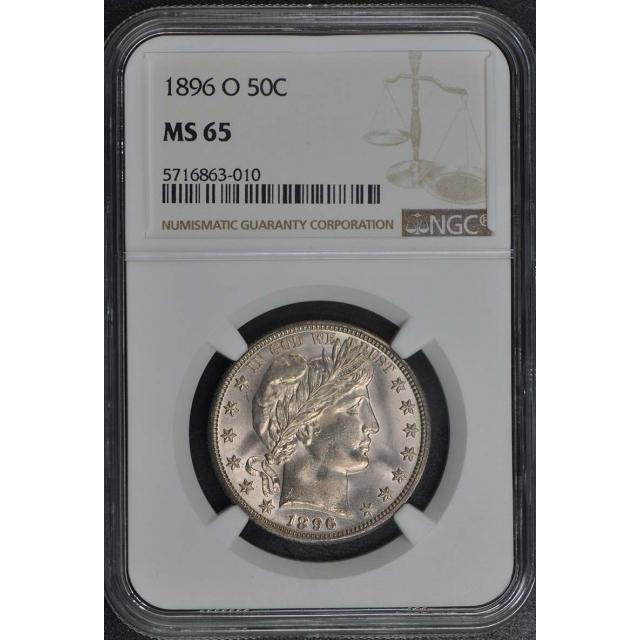 1896-O Barber Half Dollar 50C NGC MS65