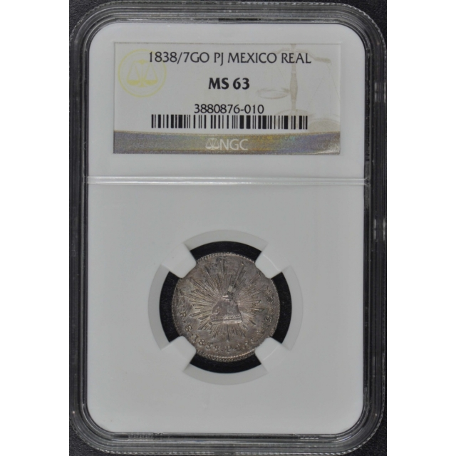 1838/7GO PJ MEXICO REAL NGC MS63