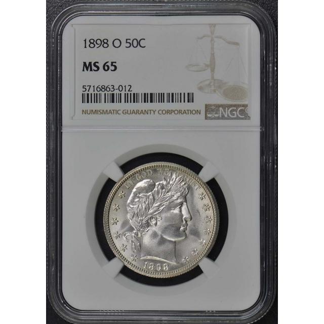 1898-O Barber Half Dollar 50C NGC MS65