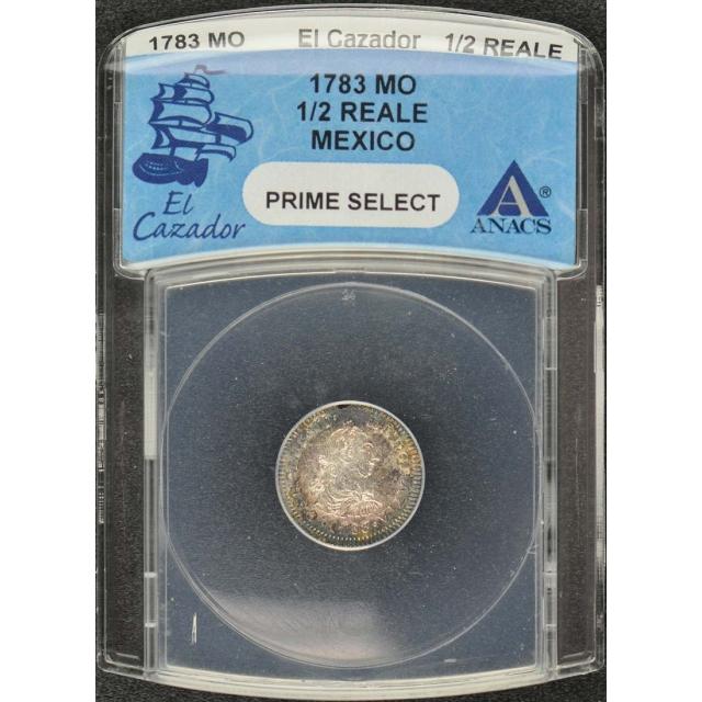 1783 MO Mexico 1/2 Reale El Cazador Shipwreck ANACS Prime Select