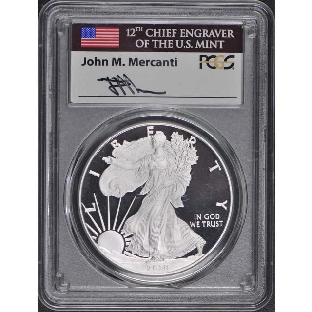 2018 W $1 Silver American Eagle PCGS PR70DCAM Philadelphia