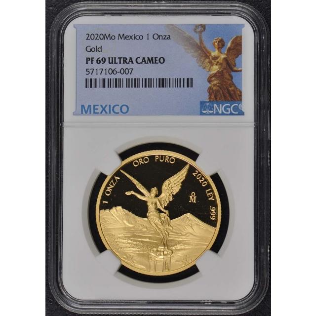2020 Mo Mexico Proof Onza Libertad Gold Set NGC PF69UC 5 Coins