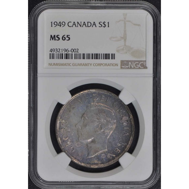 1949 CANADA S$1 NGC MS65