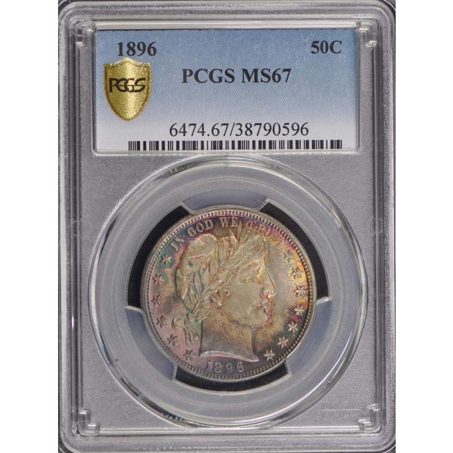 1896 50C Barber Half Dollar PCGS MS67