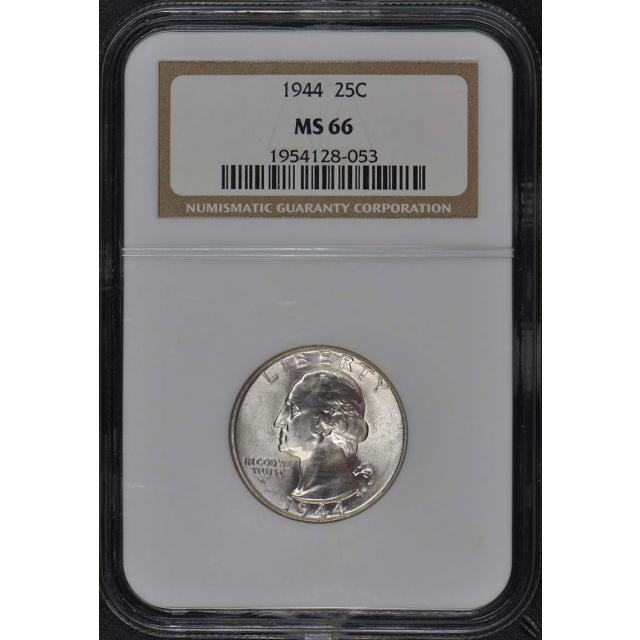 1944 Washington Quarter 25C NGC MS66