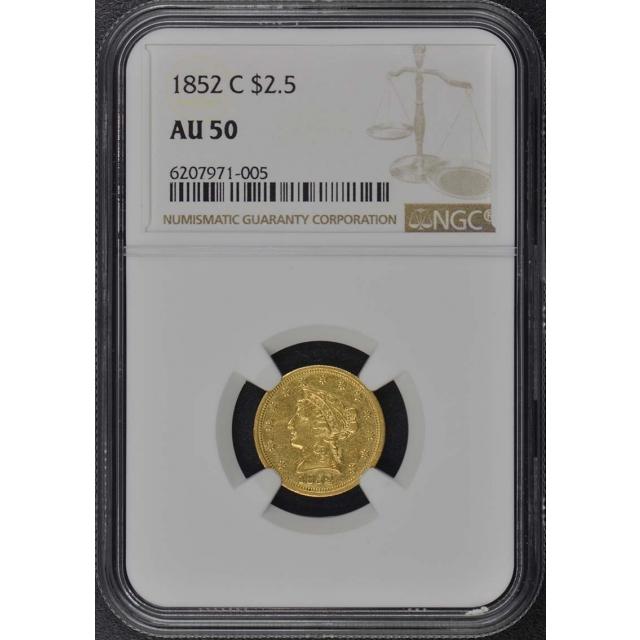 1852-C Quarter Eagle $2.50 NGC AU50