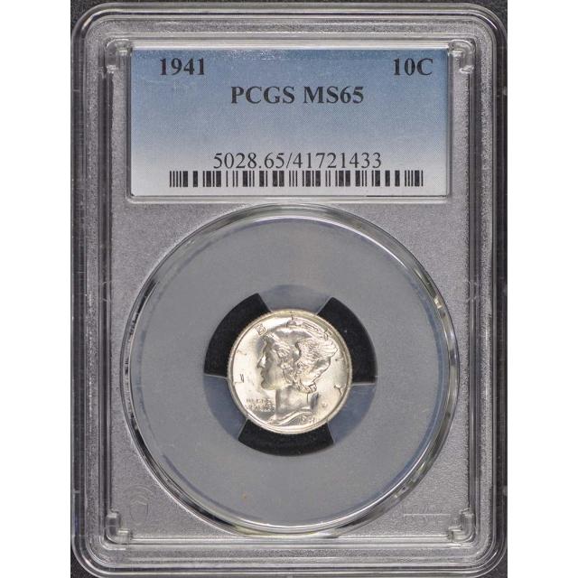 1941 10C Mercury Dime PCGS MS65