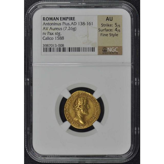 Antoninus Pius, AD 138-161 ROMAN Aureus NGC AU50 Fine Style