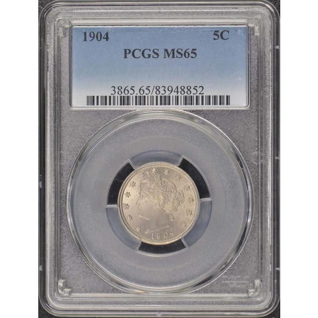 1904 5C Liberty Nickel PCGS MS65