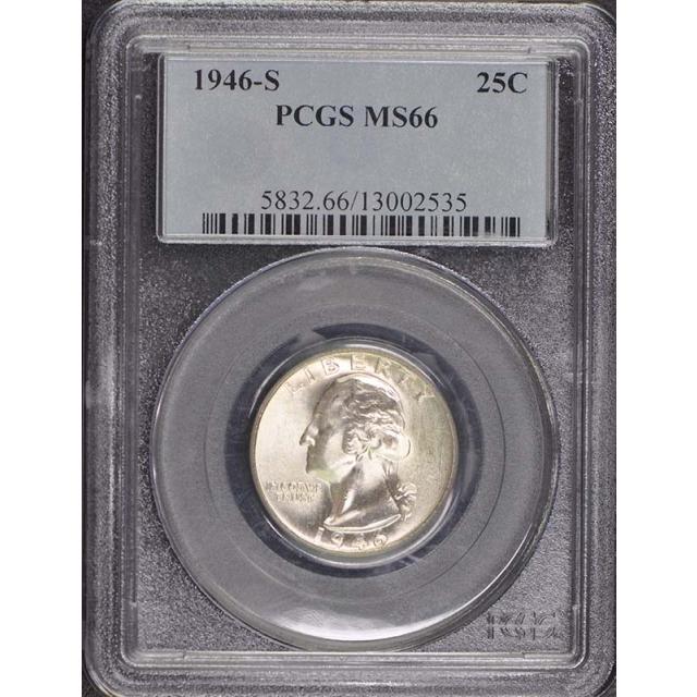 1946-S 25C Washington Quarter PCGS MS66