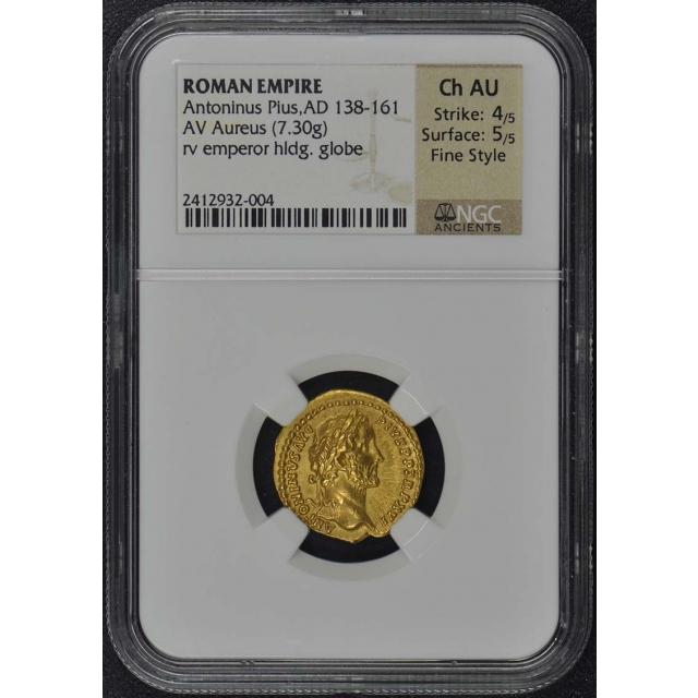 Antoninus Pius, AD 138-161 ROMAN Aureus NGC AU55 Fine Style