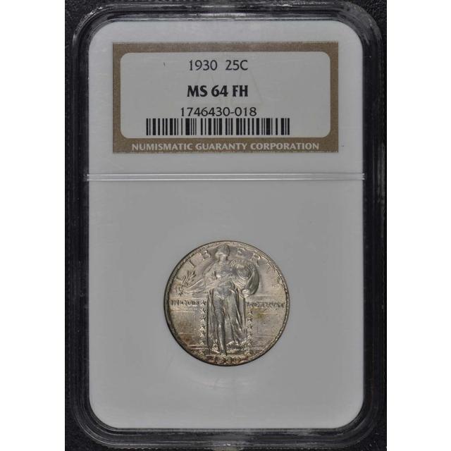 1930 Standing Liberty Quarter 25C NGC MS64FH