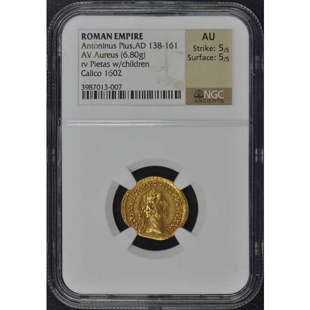 Antoninus Pius, AD 138-161 ROMAN EMPIRE Aureus NGC AU50