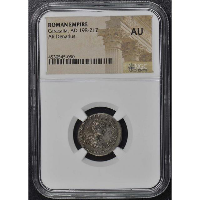 Caracalla, AD 198-217 ROMAN EMPIRE AR Denarius NGC AU50
