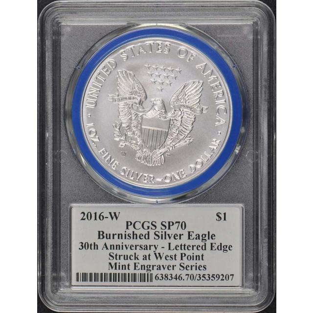 2016-W $1 Silver Eagle PCGS SP70 Mercanti Engraver Series Pop 135