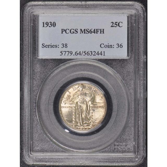 1930 25C Standing Liberty Quarter PCGS MS64FH