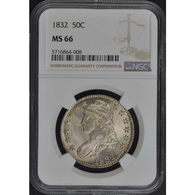 1832 Capped Bust, Lettered Edge 50C NGC MS66