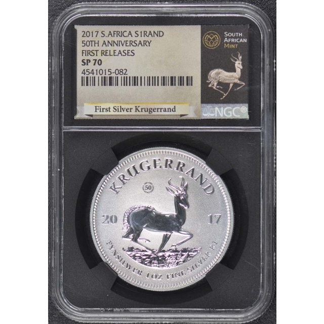 2017 South Africa Krugerrand 50th Anniversary First Releases NGC SP70