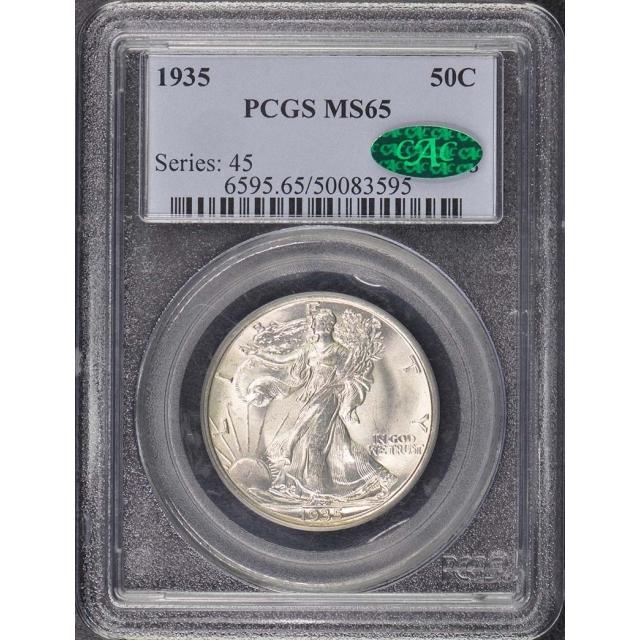 1935 50C Walking Liberty Half Dollar PCGS MS65
