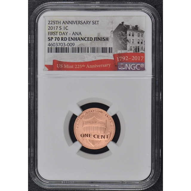 2017-S 10 Coin US Mint 225th Anniversary Set NGC SP70 Enhanced Finish