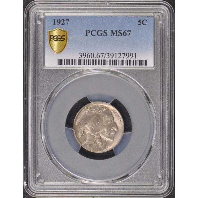 1927 5C Buffalo Nickel PCGS MS67