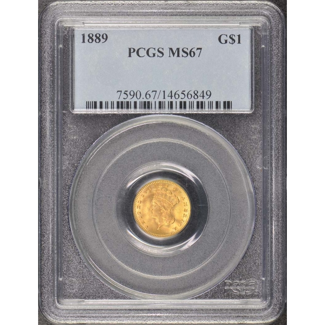 1889 G$1 Gold Dollar PCGS MS67