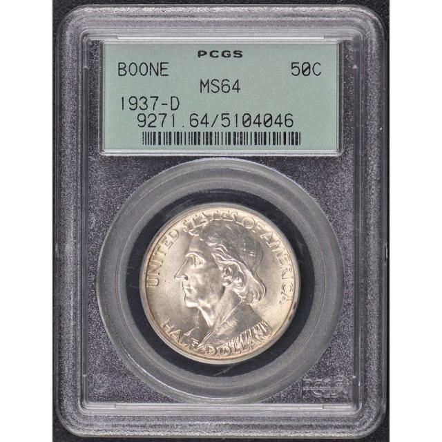BOONE 1937-D 50C Silver Commemorative PCGS MS64