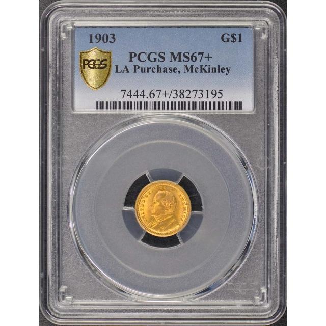 LA PURCHASE, MCKINLEY 1903 G$1 Gold Commemorative PCGS MS67+