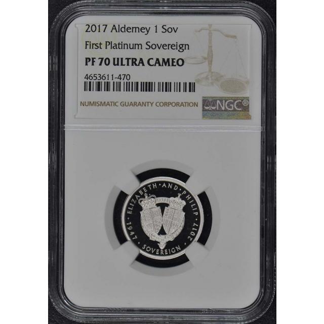 2017 First Platinum Sovereign NGC PF70 Ultra Cameo